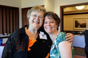 Secretary Julie Hague-Gray (65) with Fundraising Chair Polly Fowler-Farrimond (82)