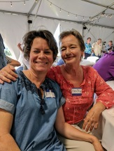 Fundraising Chair Polly Fowler-Farrimond (82) with Diana Briggs (68)