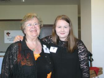 Secretary Julie Hague-Grey with 2018 Recipient Cadence Rochlen
